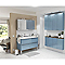 Armoire salle de bains bleu Imandra 60 x 60 x 15 cm