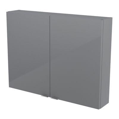 Armoire salle de bains gris Imandra 80 x 60 x 15 cm