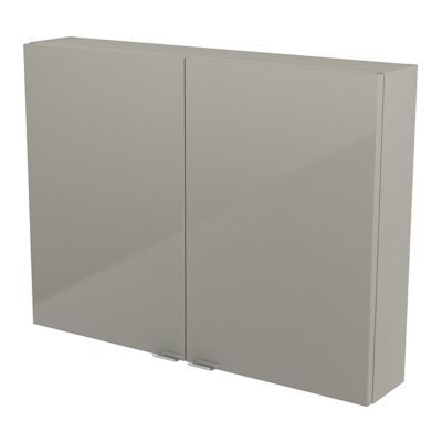 Armoire salle de bains taupe Imandra 80 x 60 x 15 cm