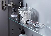 Armoire de salle de bains GoodHome Imandra taupe L.80 x H.60 x P.15 cm