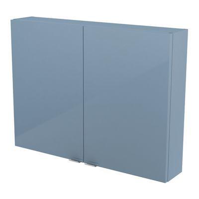 Armoire salle de bains bleu Imandra 80 x 60 x 15 cm