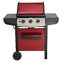 Barbecue gaz Berkley rouge | Castorama