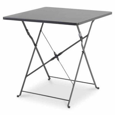 table de jardin saba anthracite pliante 70 x 70 cm castorama. Black Bedroom Furniture Sets. Home Design Ideas