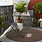 Table de jardin Saba anthracite pliante 70 x 70 cm