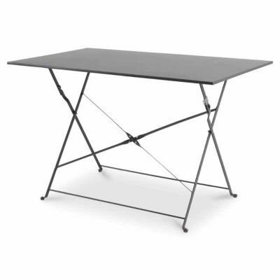 Table de jardin saba anthracite pliante 110 x 70 cm - Tables pliantes castorama ...