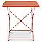 Table de jardin Saba rouge vermillon pliante 70 x 70 cm