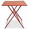 Table de jardin saba rouge vermillon pliante 110 x 70 cm