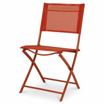 chaise de jardin saba rouge vermillon pliante castorama. Black Bedroom Furniture Sets. Home Design Ideas