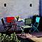 Chaise de jardin saba rouge vermillon pliante