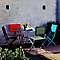 Chaise de jardin saba vert argile pliante