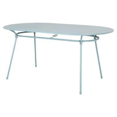 Table de jardin en métal Gloria 160 x 90 cm vert phenix