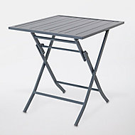 Table de jardin en aluminium Batang 73 x 73 cm anthracite
