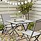 Table de jardin en aluminium Batang 73 x 73 cm anthracite