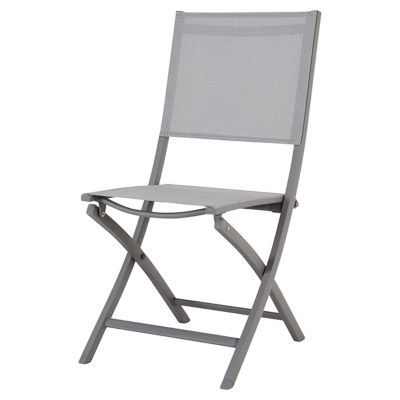 Chaise De Jardin Pliante En Aluminium Batang Anthracite Castorama