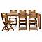Table de jardin en bois Denia 180/228 x 90 cm