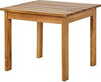 Table basse de jardin en bois Denia 47 x 47 cm