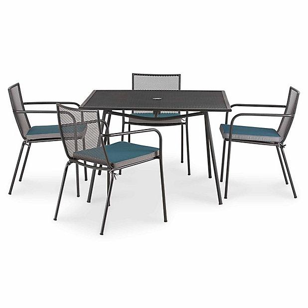 Table De Jardin Adelaide 110 X 110 Cm Castorama