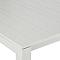 Table de jardin Batang en aluminium 205/335 x 100 cm gris