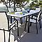 Table de jardin Santorin 220/330 x 104 cm blanc