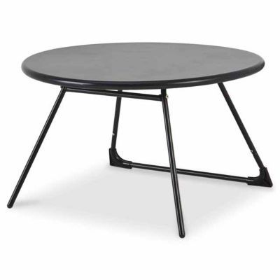 Table basse de jardin nova 70 cm noir castorama for Table de jardin chez castorama