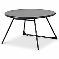 Table basse de jardin Blooma Nova métal noir ø70 cm