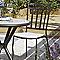 Galette de chaise carrée Sofia écru 41 x 30 cm