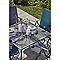 Coussin de chaise / fauteuil Adelaide bleu métal 108 x 47 cm