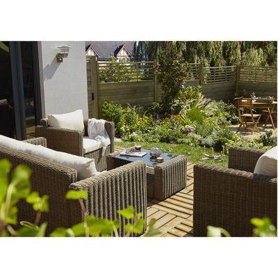 canap de jardin soron castorama. Black Bedroom Furniture Sets. Home Design Ideas