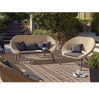 canap de jardin loa castorama. Black Bedroom Furniture Sets. Home Design Ideas