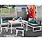 Canapé de jardin Batang 3 places en aluminium