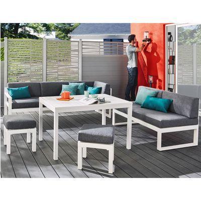 canap de jardin batang 2 places en aluminium castorama. Black Bedroom Furniture Sets. Home Design Ideas