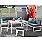 Canapé de jardin Batang 2 places en aluminium