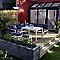 2 tabourets de jardin Blooma Batang en aluminium