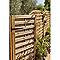 Porte bois Waitiki marron 90 x h.180 cm