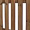 Clôture bois Blooma Mekong marron 180 x h.100 cm