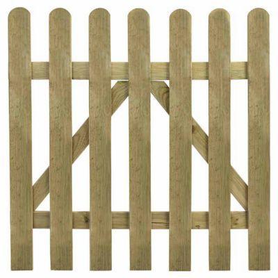 Portillon clôture bois Blooma Mekong vert 100 x h.100 cm | Castorama