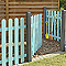Portillon clôture bois Blooma Mekong vert 100 x h.100 cm