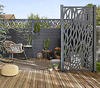 Lame de clôture composite Neva anthracite (lot de 3 lames)