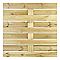 Panneau bois anti-vent BLOOMA Neva 180 x h.180 cm