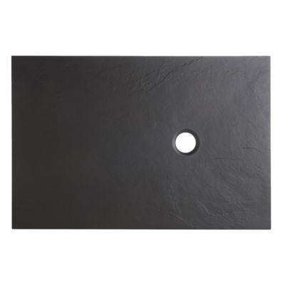 Receveur De Douche à Poser Rectangulaire Recoupable Résine Minérale Noire Cooke Lewis Piro 80 X 120 Cm Castorama