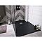 Receveur de douche à poser rectangulaire résine minérale noire COOKE & LEWIS Piro 80 x 120 cm