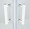Portes de douche angle droit sérigraphié COOKE & LEWIS Onega 80 x 80 cm