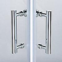 Portes de douche angle droit Cooke & Lewis Onega transparent 70 x 70 cm