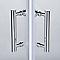 Portes de douche angle droit transparent COOKE & LEWIS Onega 80 x 80 cm