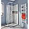 Portes de douche angle droit transparent COOKE & LEWIS Onega 90 x 90 cm