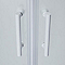 Portes de douche angle circulaire sérigraphié Cooke & Lewis Onega 80 x 80 cm