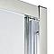 Portes de douche angle circulaire transparent COOKE & LEWIS Onega 80 x 80 cm