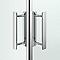Portes de douche angle droit transparent COOKE & LEWIS Beloya 80 x 80 cm