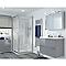 Portes de douche angle droit transparent COOKE & LEWIS Beloya 90 x 90 cm