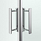 Portes de douche angle droit transparent COOKE & LEWIS Beloya 120 x 80 cm